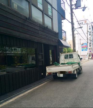 喫茶店跡地工事