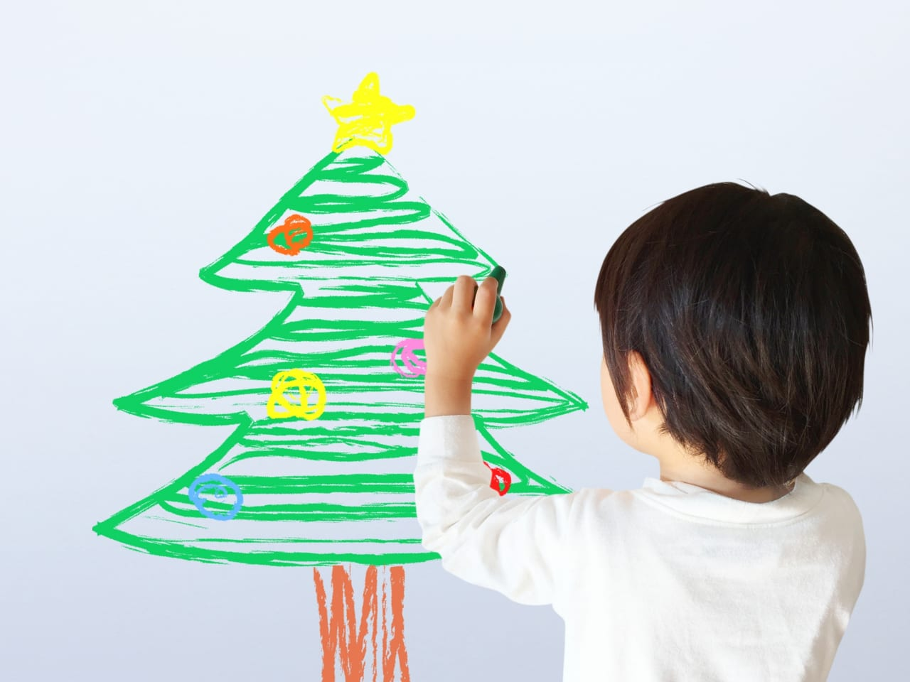 「クリスマスと家族の絵」クリスマスイベント